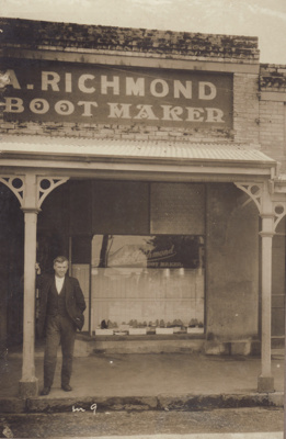 Photograph [Andrew Richmond, Bootmaker]; unknown photographer; 1928-1940; MT2012.16.1