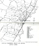 Map of Mataura Farm Locations [Showing Farmers West of the River, 1970-1990]; Department Survey and Land Information; 1990; MT2014.44.6