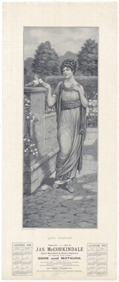 Calendar, J.A.S. McCorkindale, Cycle Merchant; Phoenix Printing Co; 1926; MT2015.24