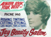 Advertising sign, Jay Beauty Salon.  ; unknown maker; 1970-1980; MT2013.26.6