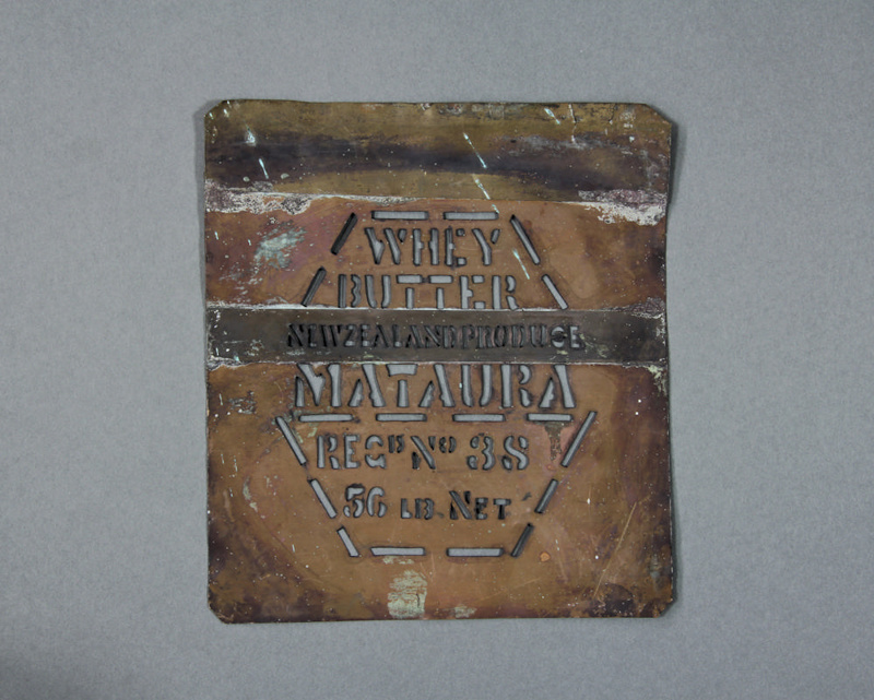 Stencil mataura whey butter unknown maker 1910 1920 mataura museum on nzmuseums - Unknown uses of butter ...