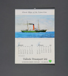 Calendar,Tulloch Transport, Mataura; unknown maker; 1988; MT2012.112.2