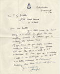 Letter; from James Hargest (M.P.) to Thomas G. Quilter; 11.01.1940; MT2015.20.7