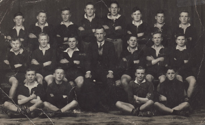 Photograph [Mataura Rugby Football Club, 4th Grade team, 1940]; unknown photographer; 1940; MT2011.185.313