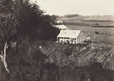 Photograph of Harriet and Andrew Muir Shanks' home...