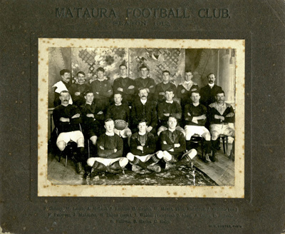 Photograph [Mataura Football Club, 1912]; Coster, W. R.; 1912; MT2017.9.5