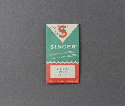 Sewing Machine Needles; a packet of replacement se...