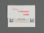 Calendar, Peter Sayers, Mataura; Tanner Couch; 1986; MT2012.107.10