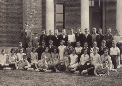 A black and white photograph of Pupils in Standard...