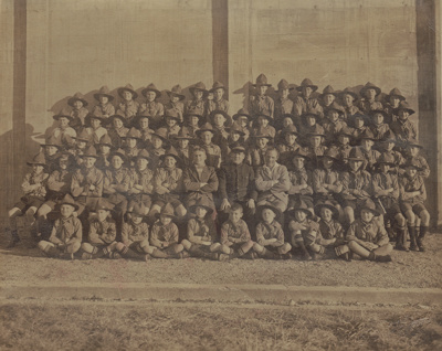 Photograph [Mataura Scout Troop, 1937].