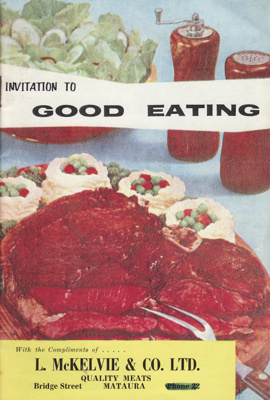 Cookery book, Invitation to Good Eating; Courier Publications, N.Z.; 1970; MT2012.88.3
