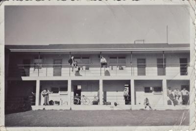 A black and white photograph of the Mataura Freezi...