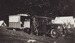 Photograph [Family with Car parked in front of an early Caravan]; unknown photographer; 1922-1940; MT2011.185.262