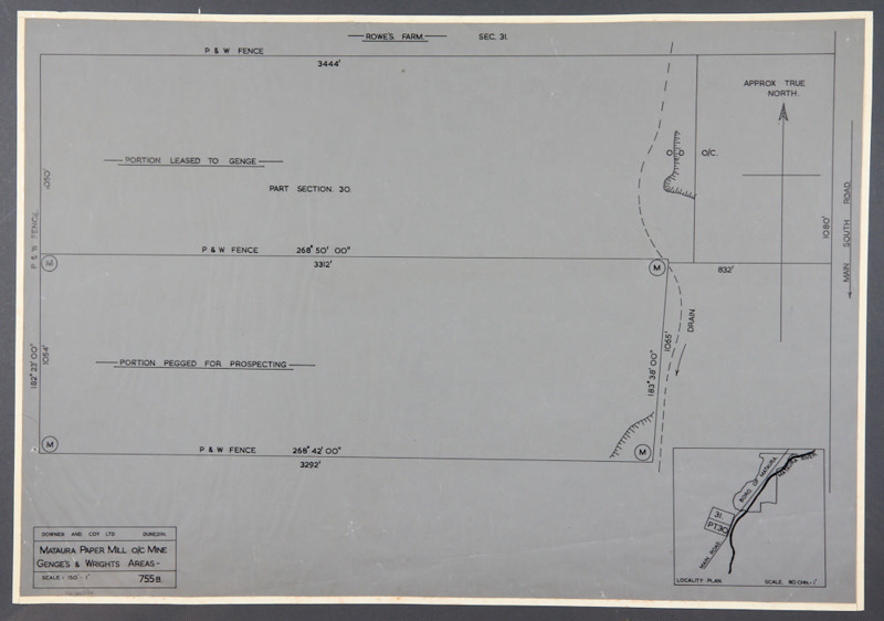 Survey blueprint mataura paper mill oc mines downer and survey blueprint mataura paper mill oc mines downer and company ltd malvernweather Image collections