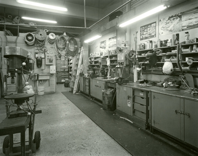 Black and white photograph of the engineers' works...