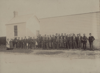 Photograph [Mataura Paper Mill, Employees]; Blackley, George; 1890-1910; MT2011.185.55
