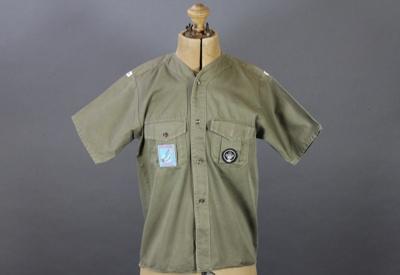Shirt; a Mataura cub's shirt worn by Francis Basti...