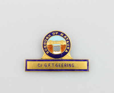 Badge, Mataura Borough Council; unknown maker; 1912; MT2000.166.5.6