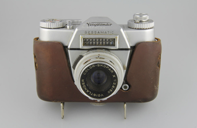 Camera; a Voigtländer Bessamatic 35mm SLR camera ...