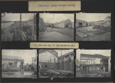 Photographs [Mataura Paper Mill, Sites for New Offices, Chip Silo and Groundwood Mill]; unknown photographer; 1962; MT2012.15.2
