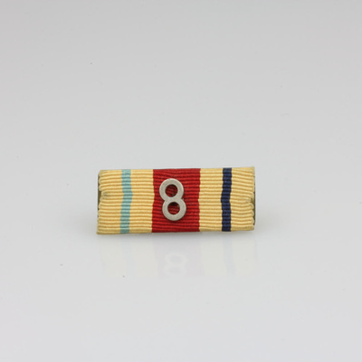 Ribbon bars; two Africa Star ribbon bars with 8th ...
