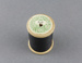 Sewing thread on spool, black cotton; D.M.C.; 1940-1950; MT2012.105.3
