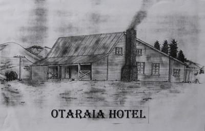 Drawing, Otaraia Hotel; Wilson, John C. (Mataura); 1997; MT2011.185.280