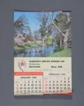 Calendar, McErlean's Service Station Ltd, Mataura ; Pictorial Publications Ltd; 1963; MT2012.107.1