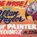 Advertising sign, Allan Taylor, Painter & Paperhanger ; unknown maker; 1965-1975; MT2013.26.3
