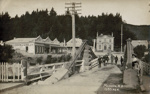 Postcard, [Mataura Suspension Bridge]; Radcliffe, Frederick George; 1910-1913; MT2013.14.3