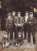 Photograph [Five Young Men, Two Boys and a Dog]; unknown photographer; 1920s-1930s; MT2011.185.226