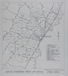 Map of Mataura Farm Locations [Showing Farmers West of the River, 1950-1970]; Department Survey and Land Information; 1990; MT2014.44.5
