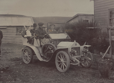 Photograph [Shanks Anderson Wedding Party in Car]; unknown photographer; 1907; MT2011.185.260