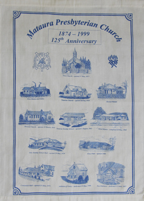 Tea towel; a cream cotton tea towel celebrating th...