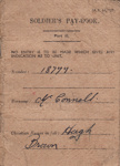 Book, Soldier's Pay Book [Hugh Brown McConnell]; unknown maker; 1944-1946; MT2015.21.19