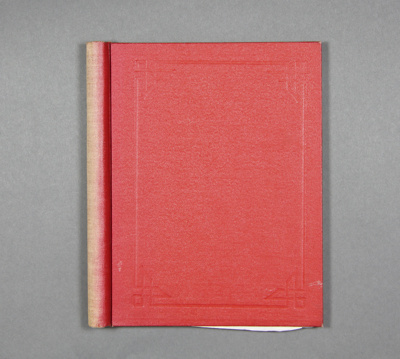 Book: a red binder containing receipts from variou...