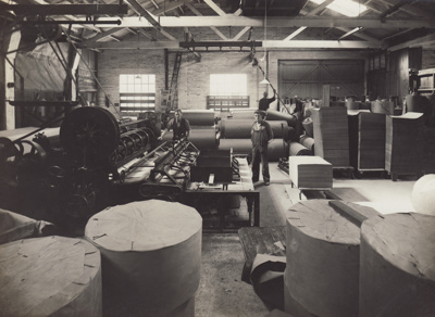 Photograph, 12 of 16, Mataura Paper Mill Album [Finishing Room, No. 4 Cutter]; unknown photographer; 1920s; MT2012.137.12