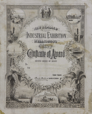 Award; a Certificate awarded to the Mataura Falls ...