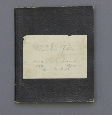 Minute book; A black exercise book associated with...