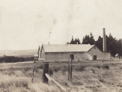 Postcard [Mataura Dairy Factory]; unknown photographer; 1911-1923; MT2011.185.75