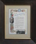 Illuminated Address, [Alexander Stevenson]; unknown maker; 1938; MT2012.4.2