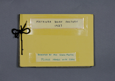 Album, photographs [Mataura Dairy Factory]; unknown photographer; 1927; MT2012.139