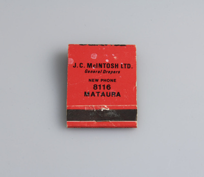 Match book; given to customers of J.C. McIntosh Lt...