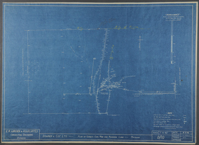 Survey blueprint; Plan of Genge's Coalmine And Adj...