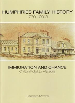 Book, Humphries Family History.; Moore, Elizabeth; 2013; ISBN 978-0-473-22515-5; MT2013.15