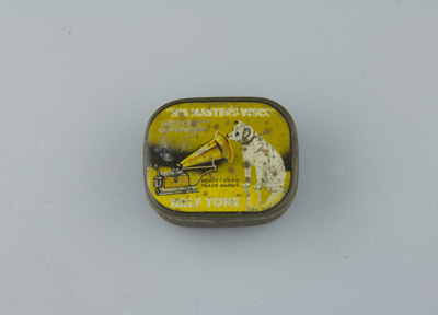 Tin; His master's Voice Gramophone needle tin. It ...