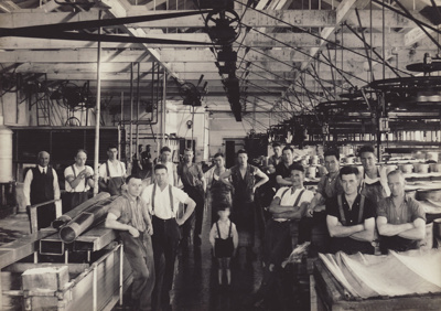 Photograph, 14 of 19, Mataura Dairy Factory Album [Cheese Packing Room]; unknown photographer; 1927; MT2012.139.14