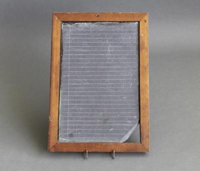 Slate; timber framed school slate which belonged t...