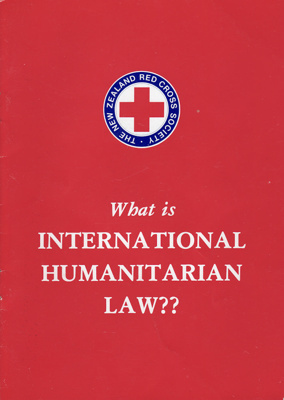 Booklet; produced by the New Zealand Red Cross Soc...