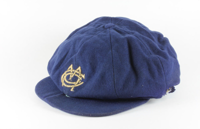 Cricket Cap, Mataura Cricket Club, Hugh Brown McConnell; unknown maker; 1930-1939; MT2015.22.21